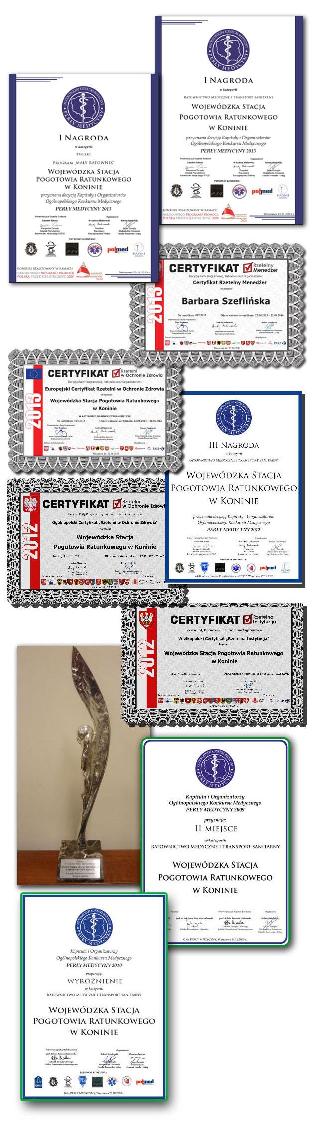 Nagrody i wyróżnienia dla WCRM Konin